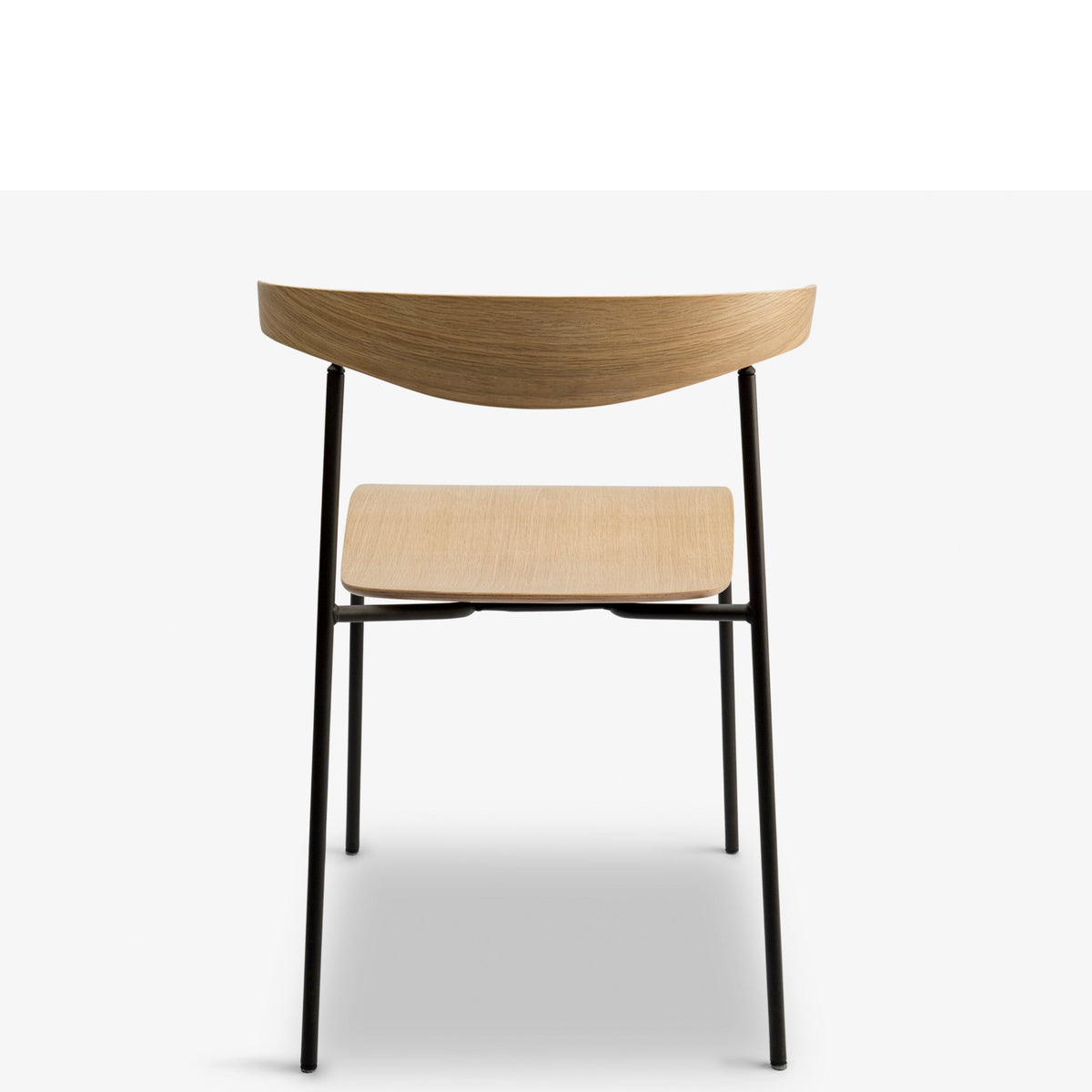 Edsbyn Office Hug Chair Oak Veneer with Black Base
