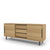 Edsbyn Office Part Sideboard 1800mmW Oak Veneer with Black Base