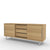 Edsbyn Office Part Sideboard 1800mmW Oak Veneer with Silver Base