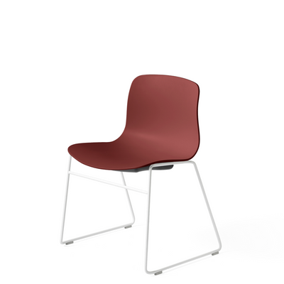 HAY About A Chair AAC 08 Brick Stackable Chair with White Powder Coated Base