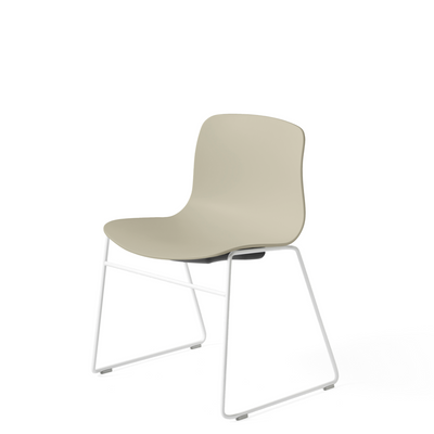 HAY About A Chair AAC 08 Pastel Green Stackable Chair with White Powder Coated Base