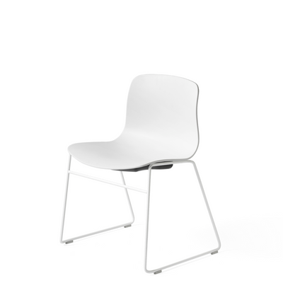 HAY About A Chair AAC 08 White Stackable Chair with White Powder Coated Base