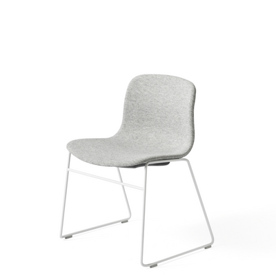 HAY About A Chair AAC 09 Stackable Office Chair, White Powder Coated Base