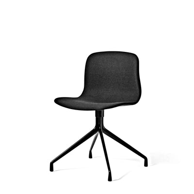 HAY About A Chair AAC11 Black Steelcut 190 Chair with Black Powder Coated Base
