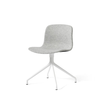 HAY About A Chair AAC11 Light Grey Hallingdal 0116 Chair with White Powder Coated Base