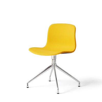 HAY About A Chair AAC11 Yellow Steelcut Trio 0446 Chair with Polished Aluminium Base