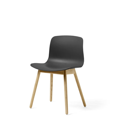 HAY About A Chair AAC12 Black Chair with Matt Lacquered Solid Oak Frame
