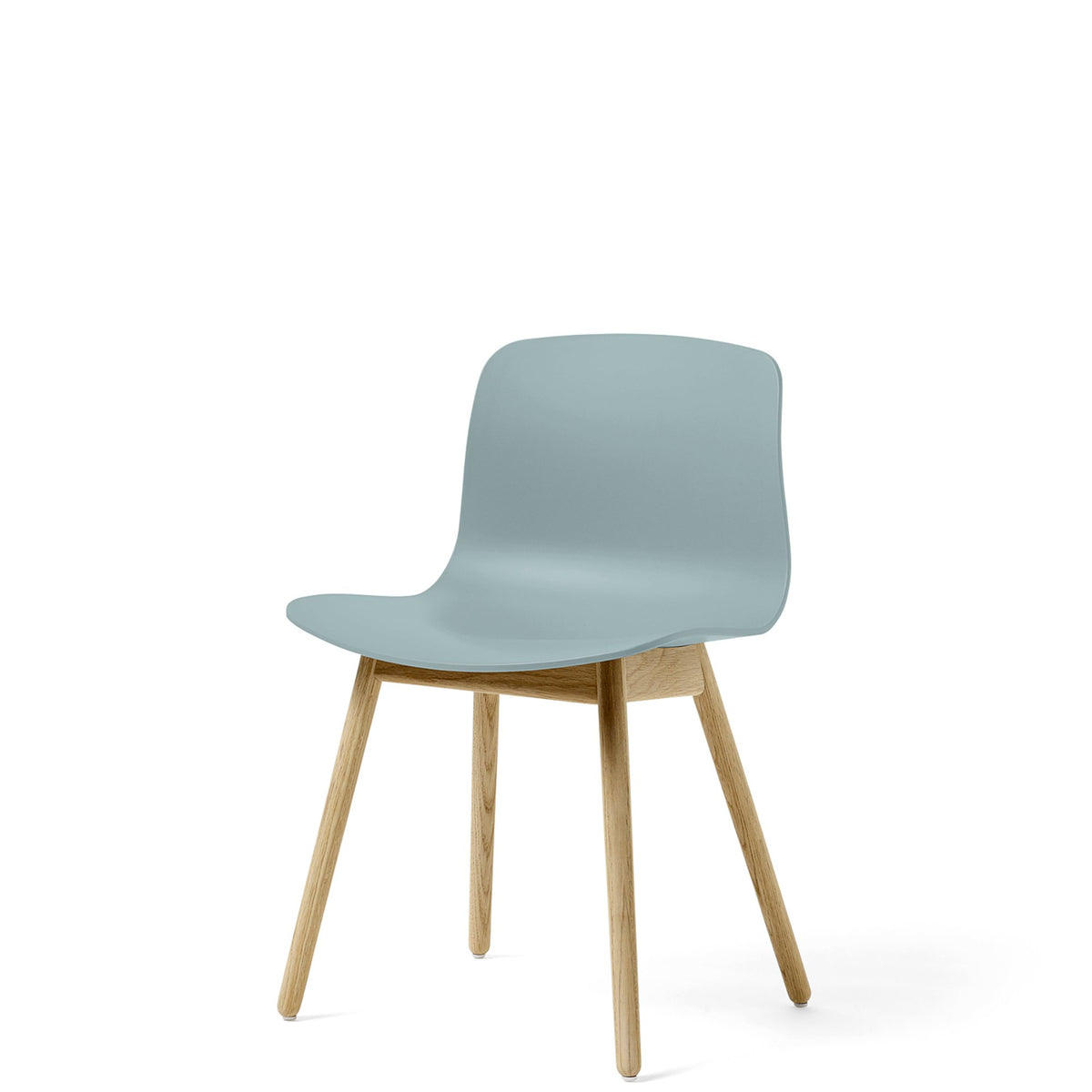 HAY About A Chair AAC12 Dusty Blue Chair with Matt Lacquered Solid Oak Frame