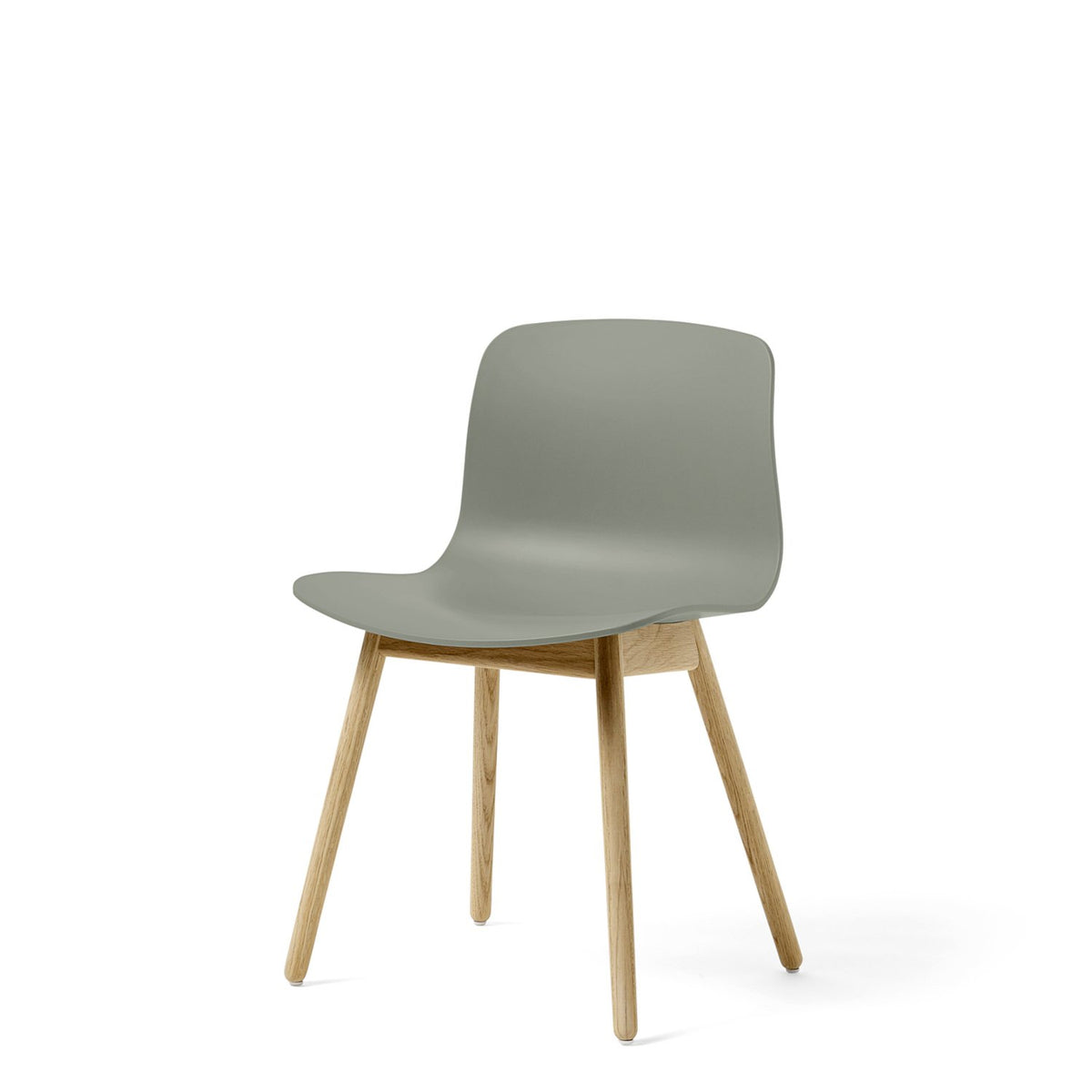 HAY About A Chair AAC12 Dusty Green Chair with Matt Lacquered Solid Oak Frame