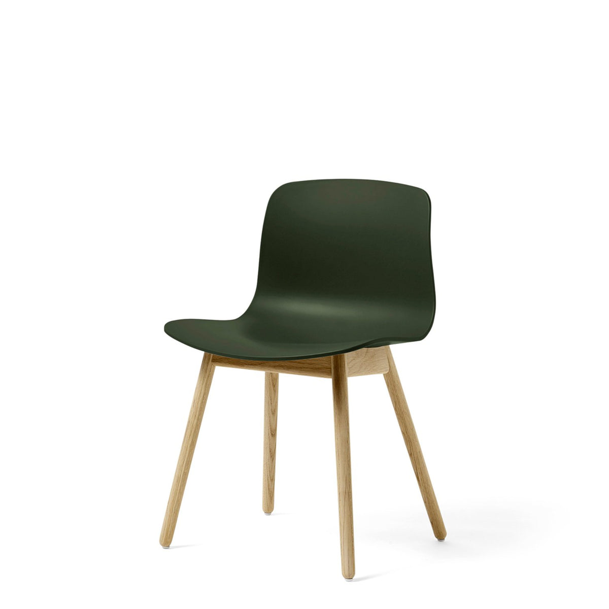 HAY About A Chair AAC12 Green Chair with Matt Lacquered Solid Oak Frame