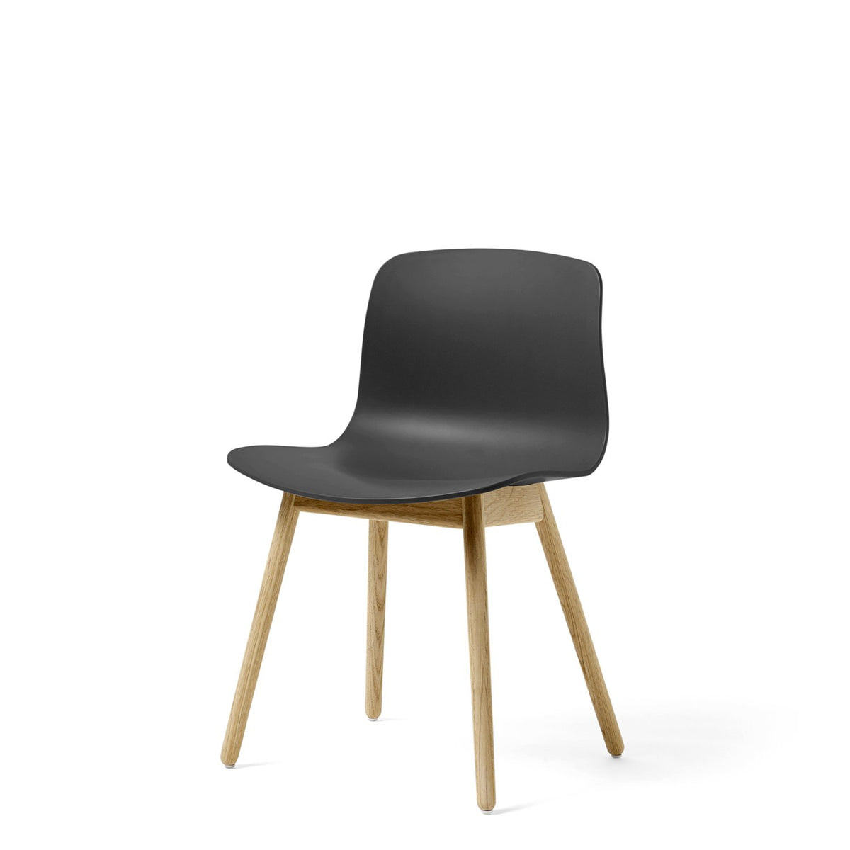 HAY About A Chair AAC12 Soft Black Chair with Matt Lacquered Solid Oak Frame