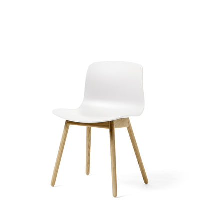 HAY About A Chair AAC12 White Chair with Matt Lacquered Solid Oak Frame