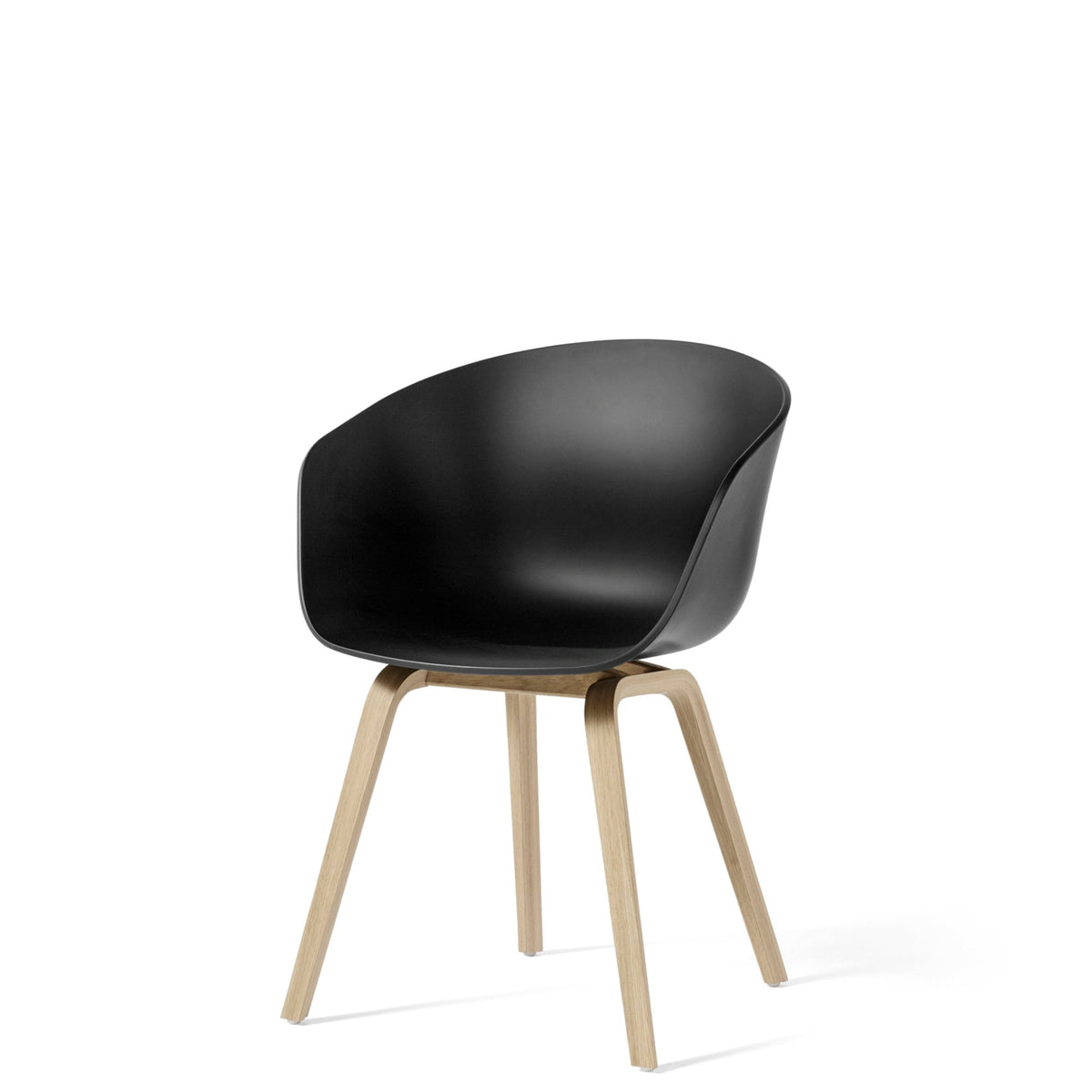 HAY About A Chair AAC22 Black with Matt Lacquered Oak Base