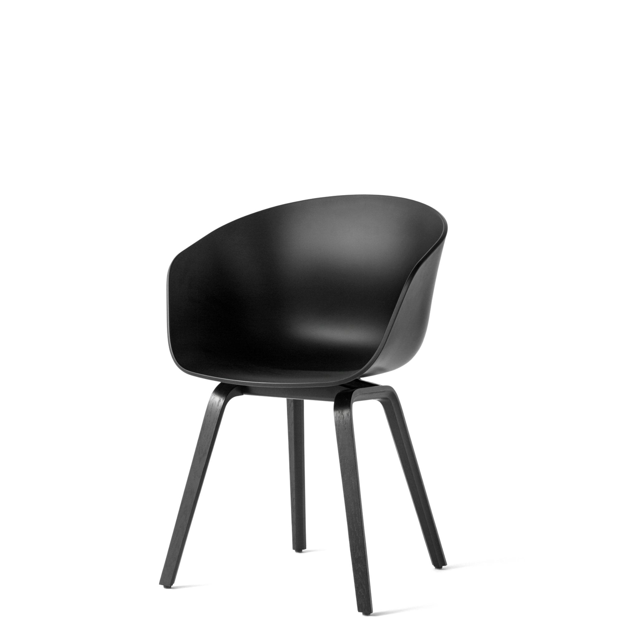 HAY About A Chair AAC22, Black Shell & Base   evewaldron