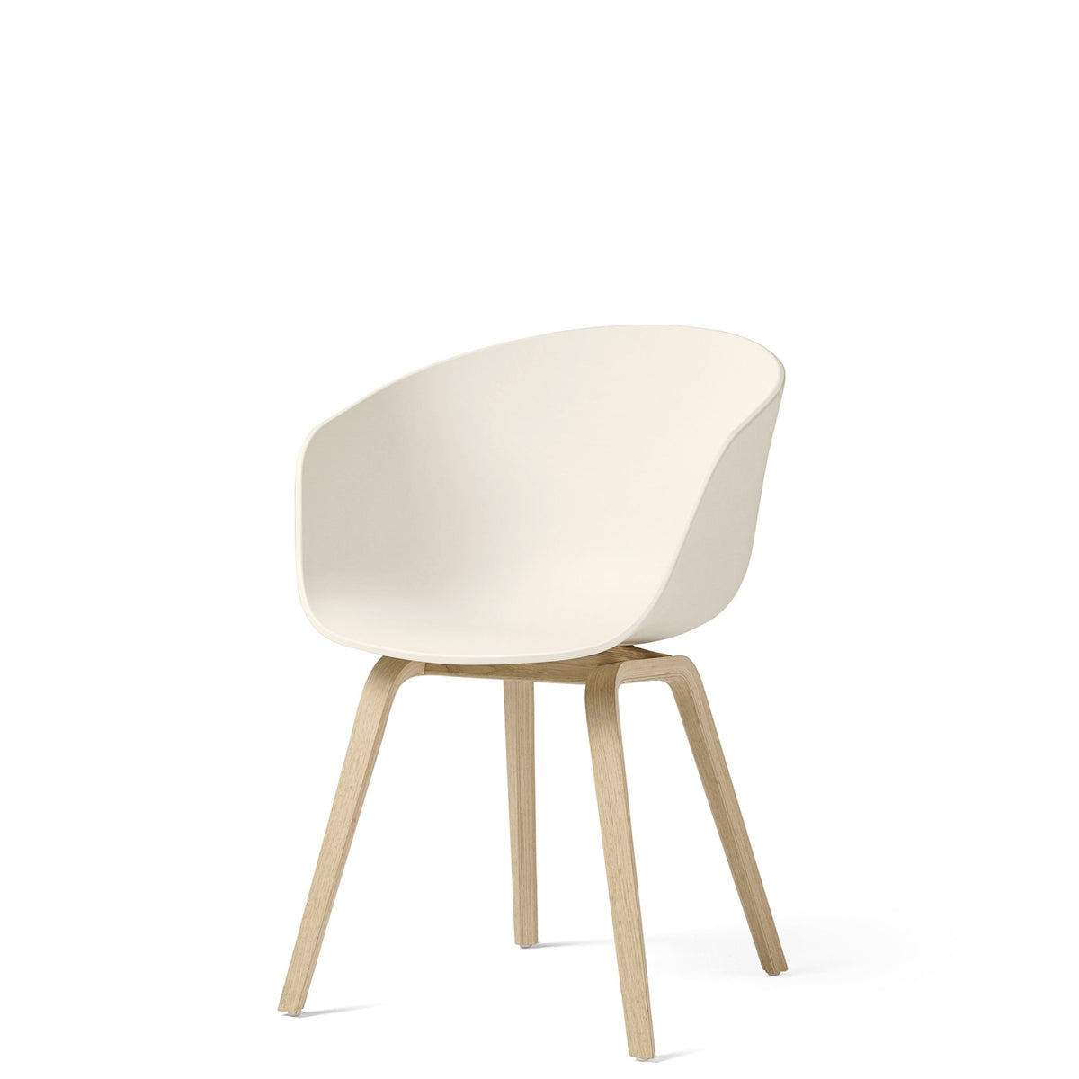 HAY About A Chair AAC22 Cream White with Matt Lacquered Oak Base