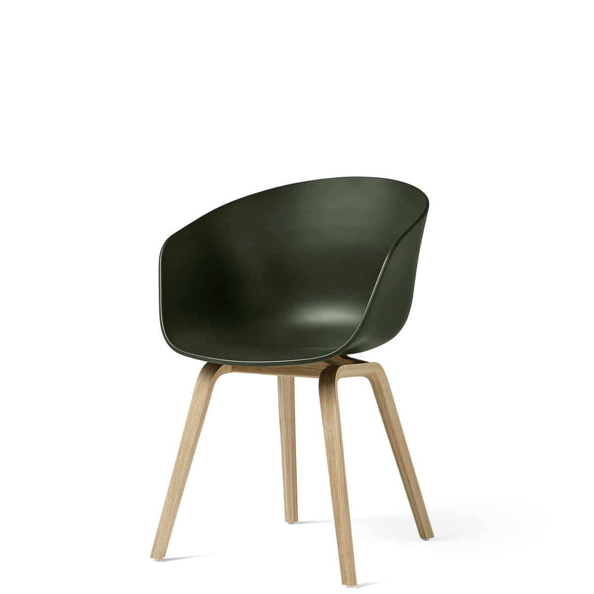 HAY About A Chair AAC22 Green with Matt Lacquered Oak Base