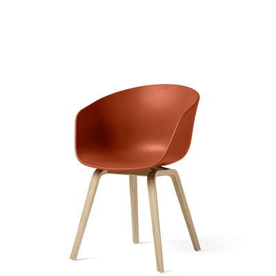 HAY About A Chair AAC22 Orange with Matt Lacquered Oak Base