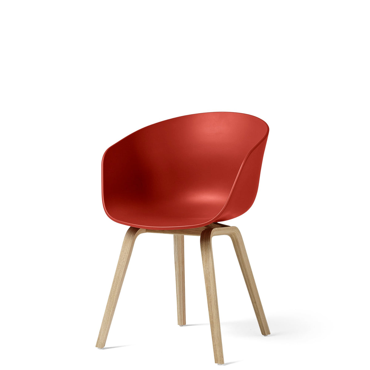 HAY About A Chair AAC22 Warm Red with Matt Lacquered Oak Base