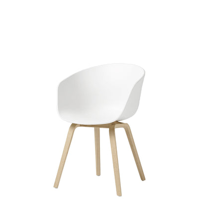 HAY About A Chair AAC22 White with Matt Lacquered Oak Legs
