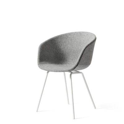 HAY Office About a Chair AAC27, Fabric Upholstery Hallingdal with White Base