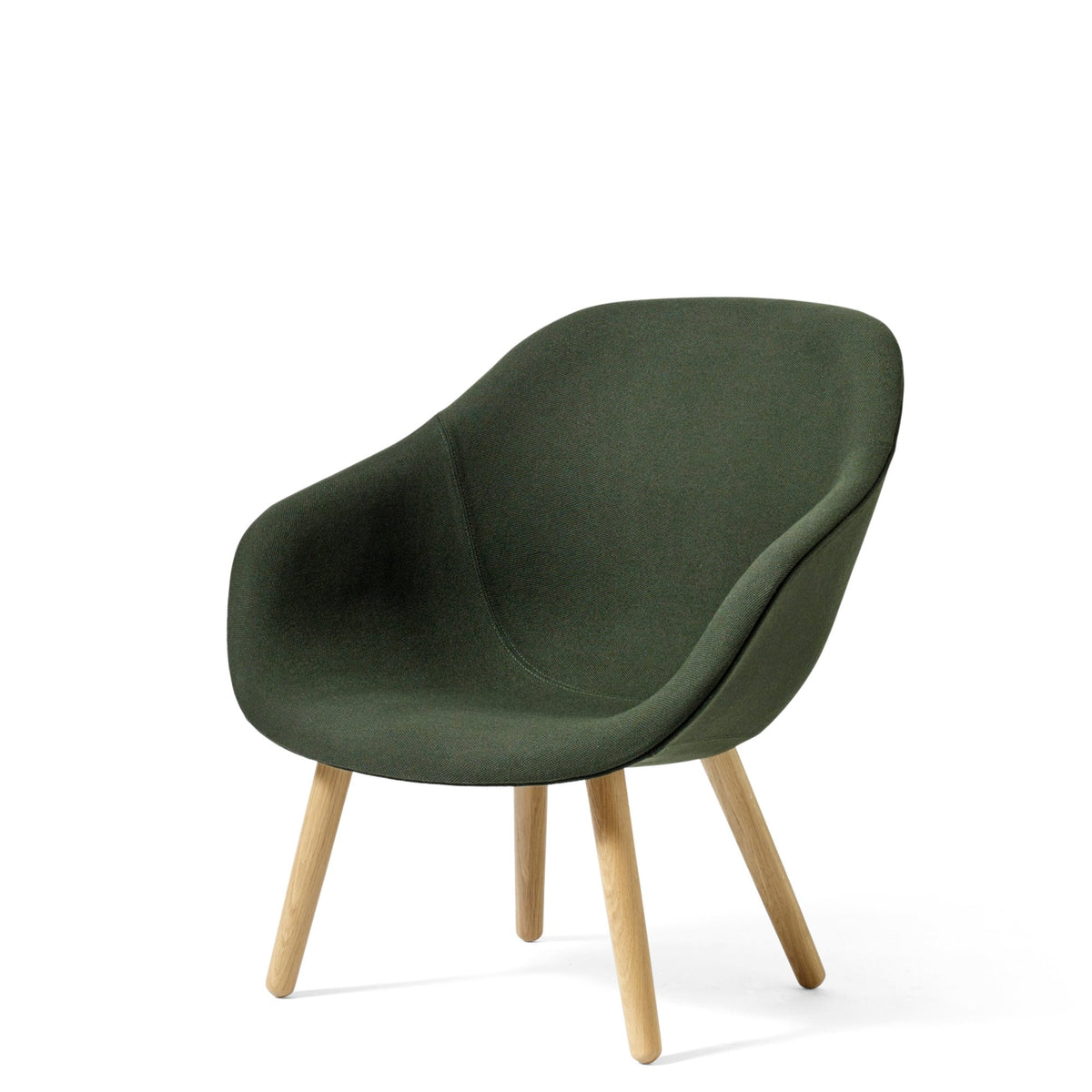 HAY About A Chair AAL82 Steelcut 0975 Without Cushion with Matt Lacquered Oak Base