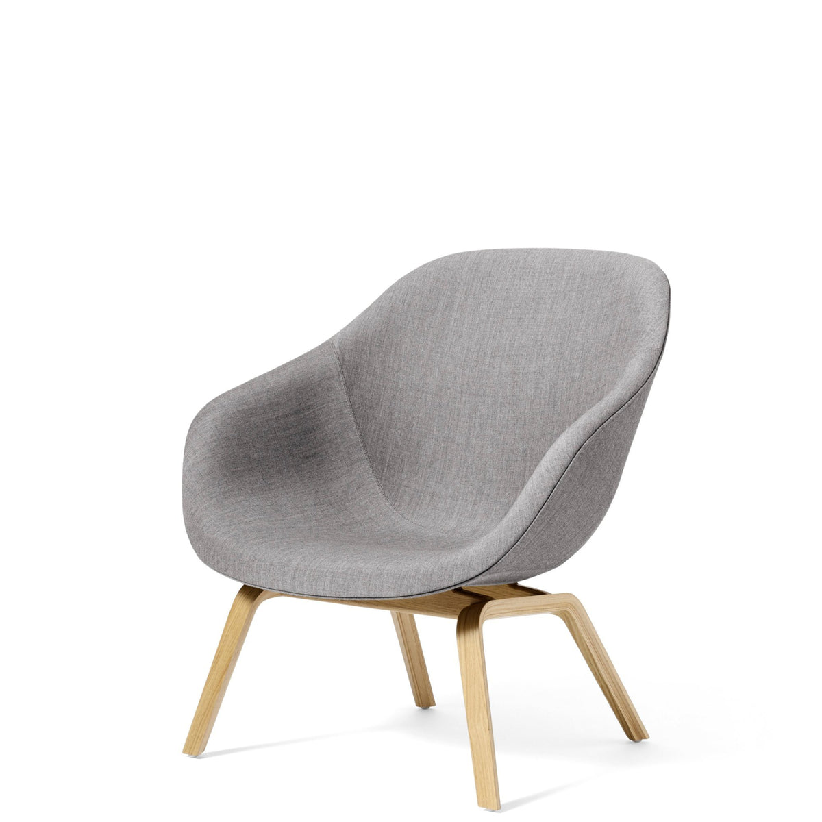 HAY About A Lounge Chair AAL83 Remix 0133 with Clear Lacquered Oak Base  Base