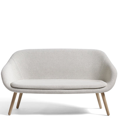 About A Sofa AAL Sofa Coda Fabric with Clear Lacquered Oak Base