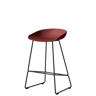 HAY About A Stool AAS38 Brick with Black Powder Coated Solid Steel Base