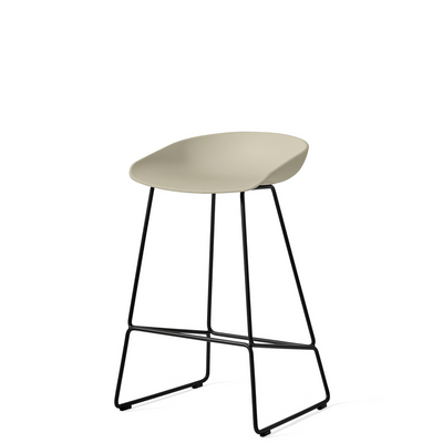 HAY About A Stool AAS38 Pastel Green with Black Powder Coated Solid Steel Base