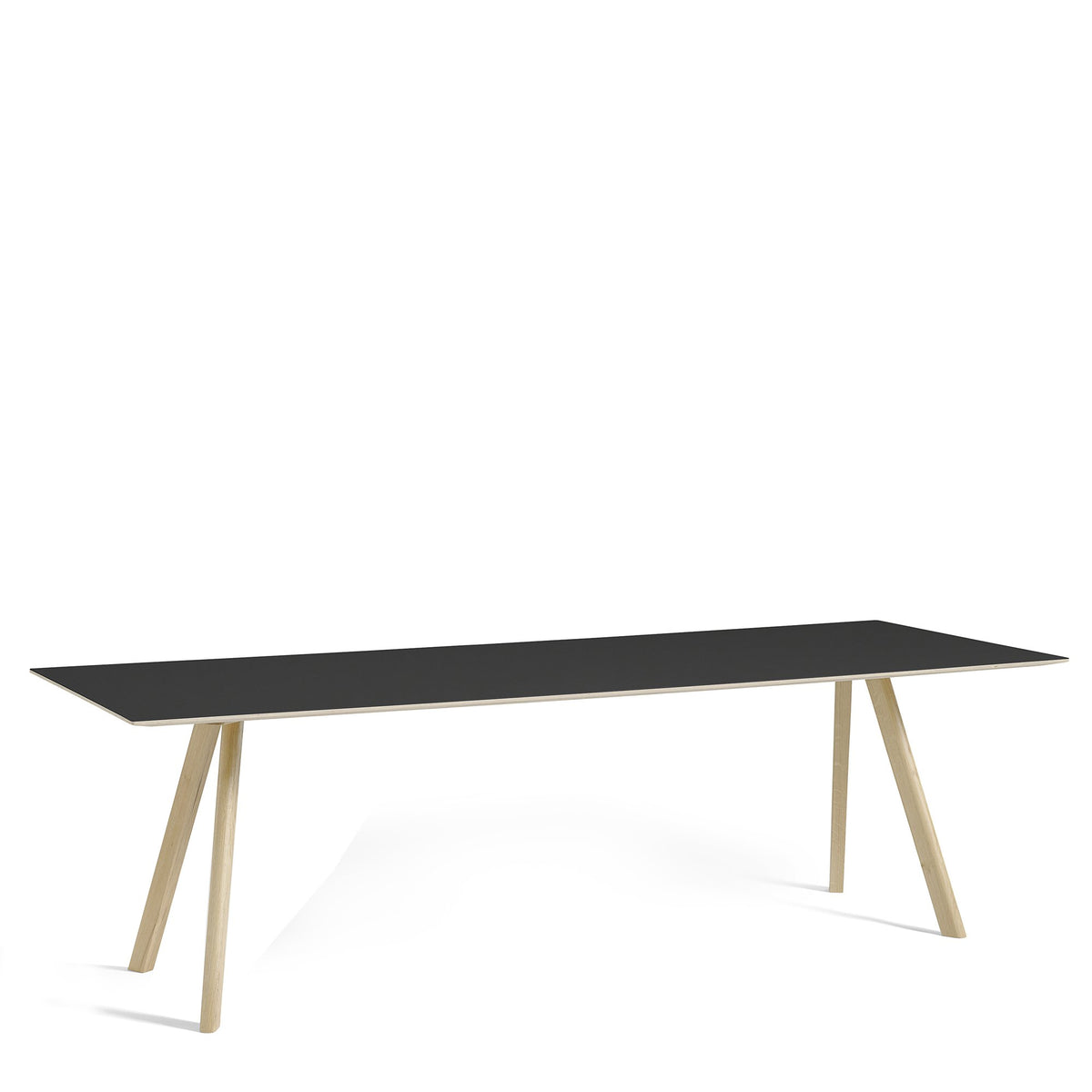 HAY CPH Table 2500mm Forbo Nero 4023 with Matt Lacquered Oak Base