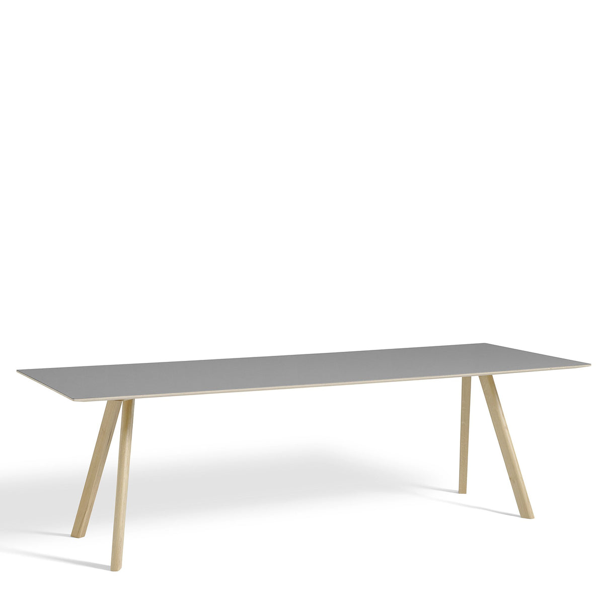 HAY CPH Table 2500mm Forbo Ash 4132 with Matt Lacquered Oak Base