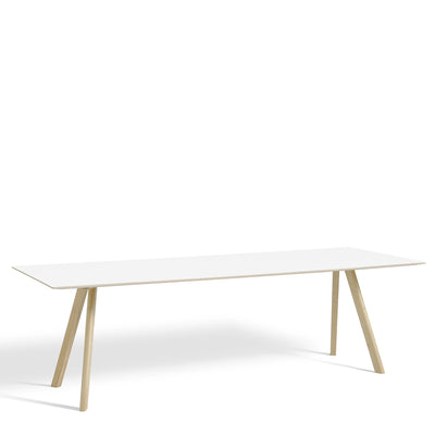 HAY CPH Table 2500mm Formica Blanc Polaire F2274 with Matt Lacquered Oak Base