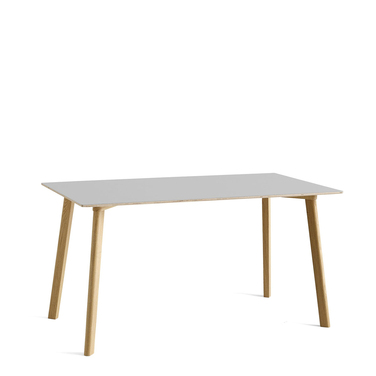 HAY CPH Deux 210 1400mm Dusty Grey 0725 with Matt Lacquered Oak Base