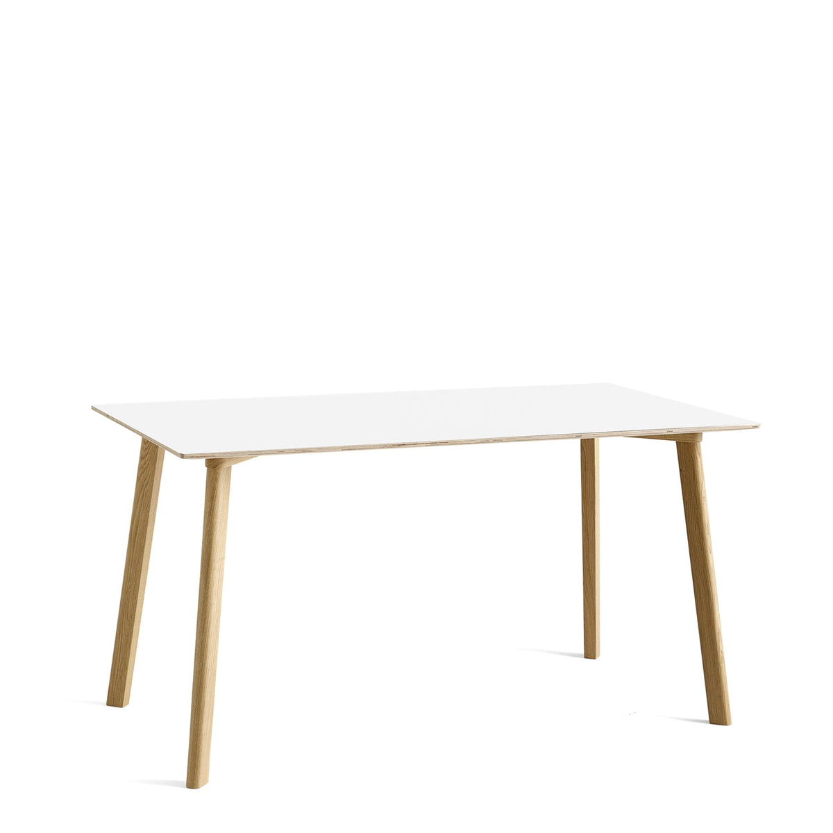 HAY CPH Deux 210 1400mm Pearl White 0029 with Matt Lacquered Oak Base