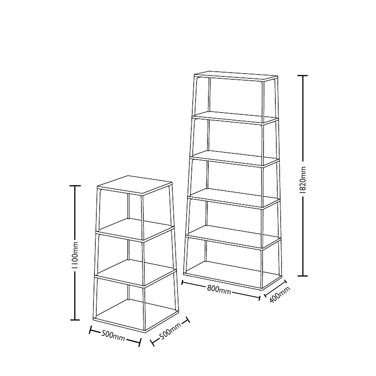 Dimensions for HAY Warm Sand Office Eiffel Shelf