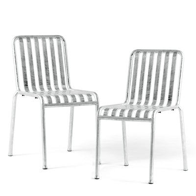 HAY Office Pair of Palissade Chairs Galvanised