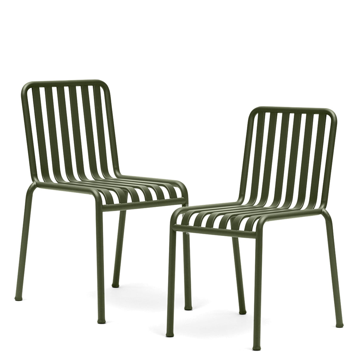 HAY Office Pair of Palissade Chairs Olive Green