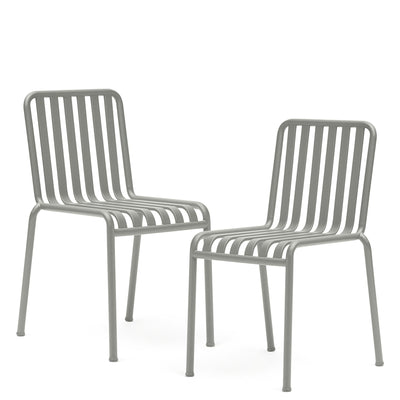 HAY Office Pair of Palissade Chairs Sky Grey