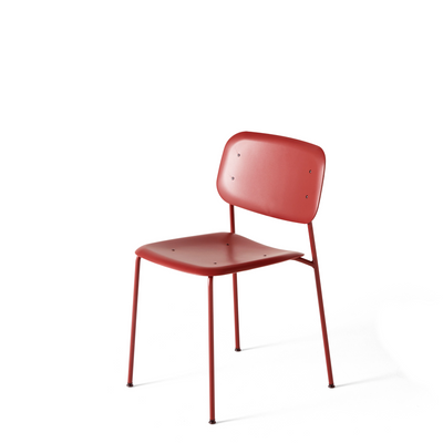 HAY Pair of Soft Edge P10 Stackable Chairs Fall Red