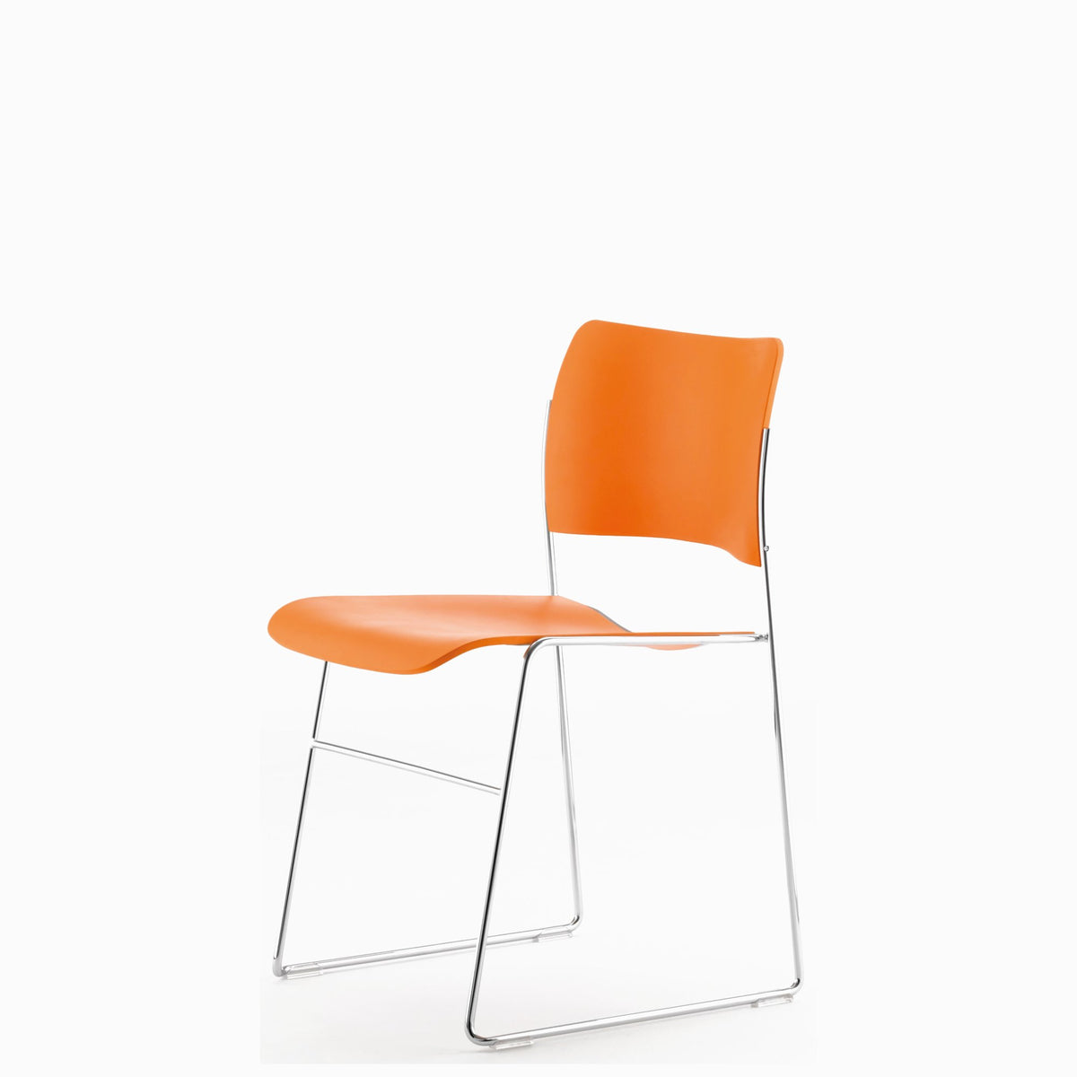 HOWE Plastic Resin Mandarin Chair with Chrome Base by David Rowland