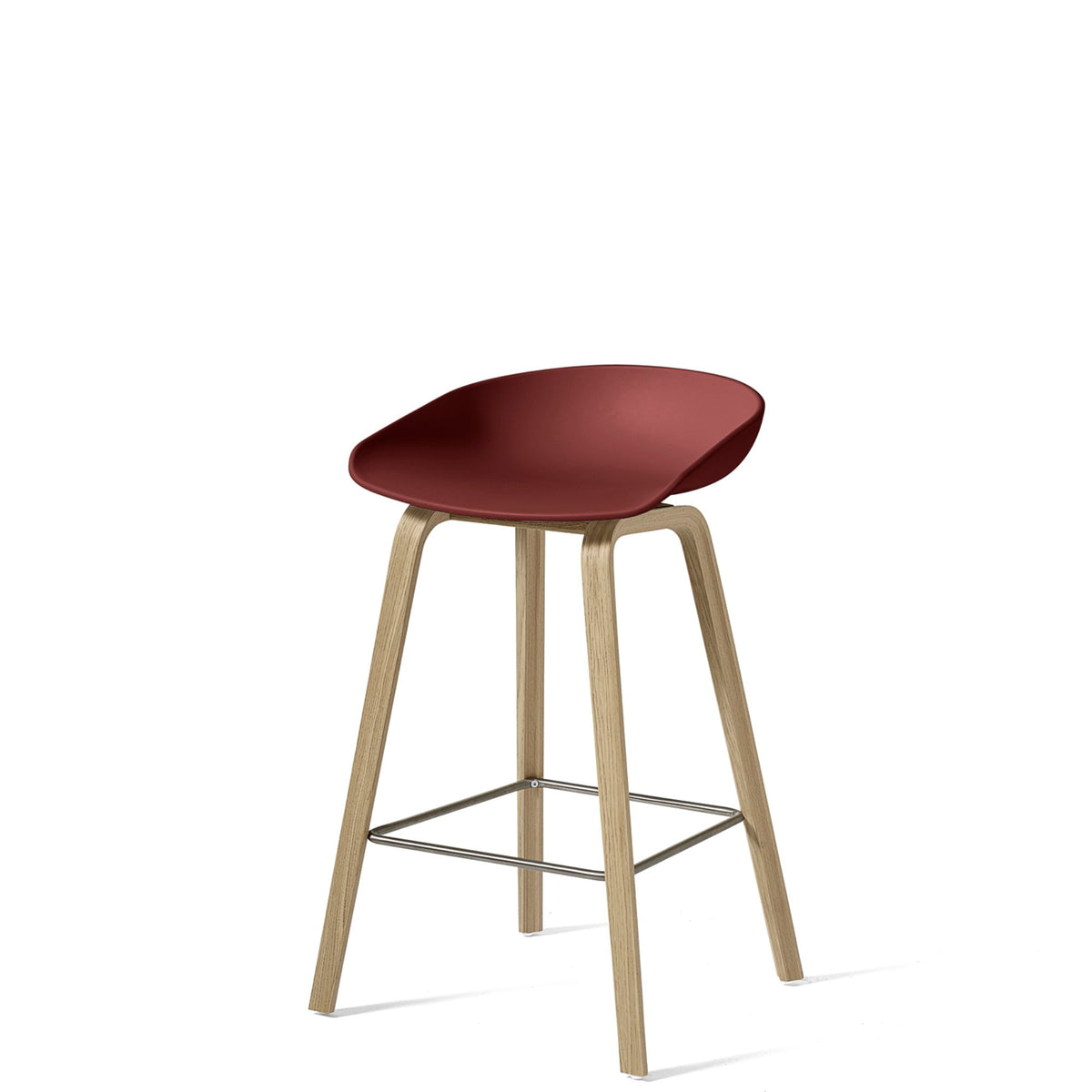 HAY About A Stool AAS32 750mm Brick with Matt Lacquered Oak Base