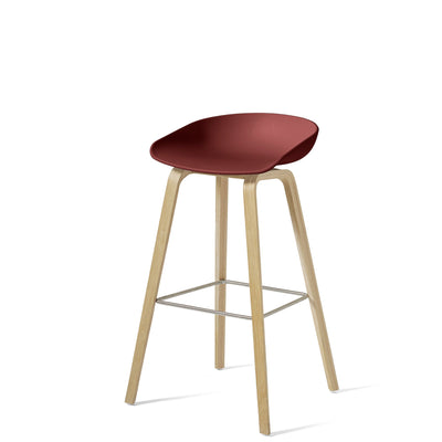 HAY About A Stool AAS32 850mm Brick Matt Lacquered Oak Base