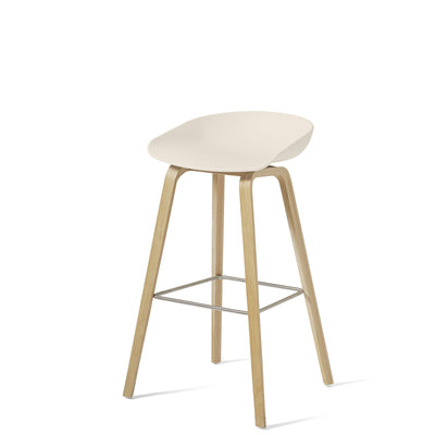 HAY About A Stool AAS32 850mm Cream White Matt Lacquered Oak Base