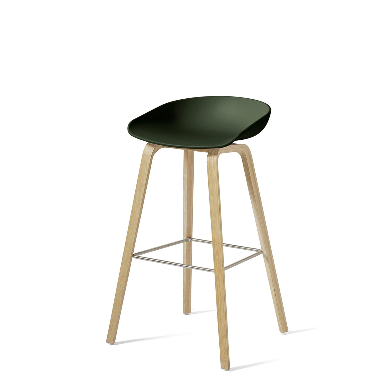 HAY About A Stool AAS32 850mm Green Matt Lacquered Oak Base
