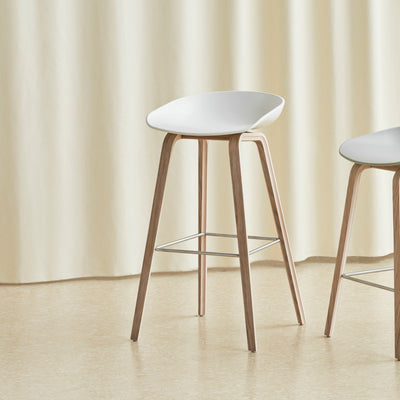 HAY About A Stool AAS32 850mm Matt Lacquered Oak Base Seating