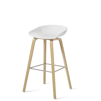 HAY About A Stool AAS32 850mm White Matt Lacquered Oak Base