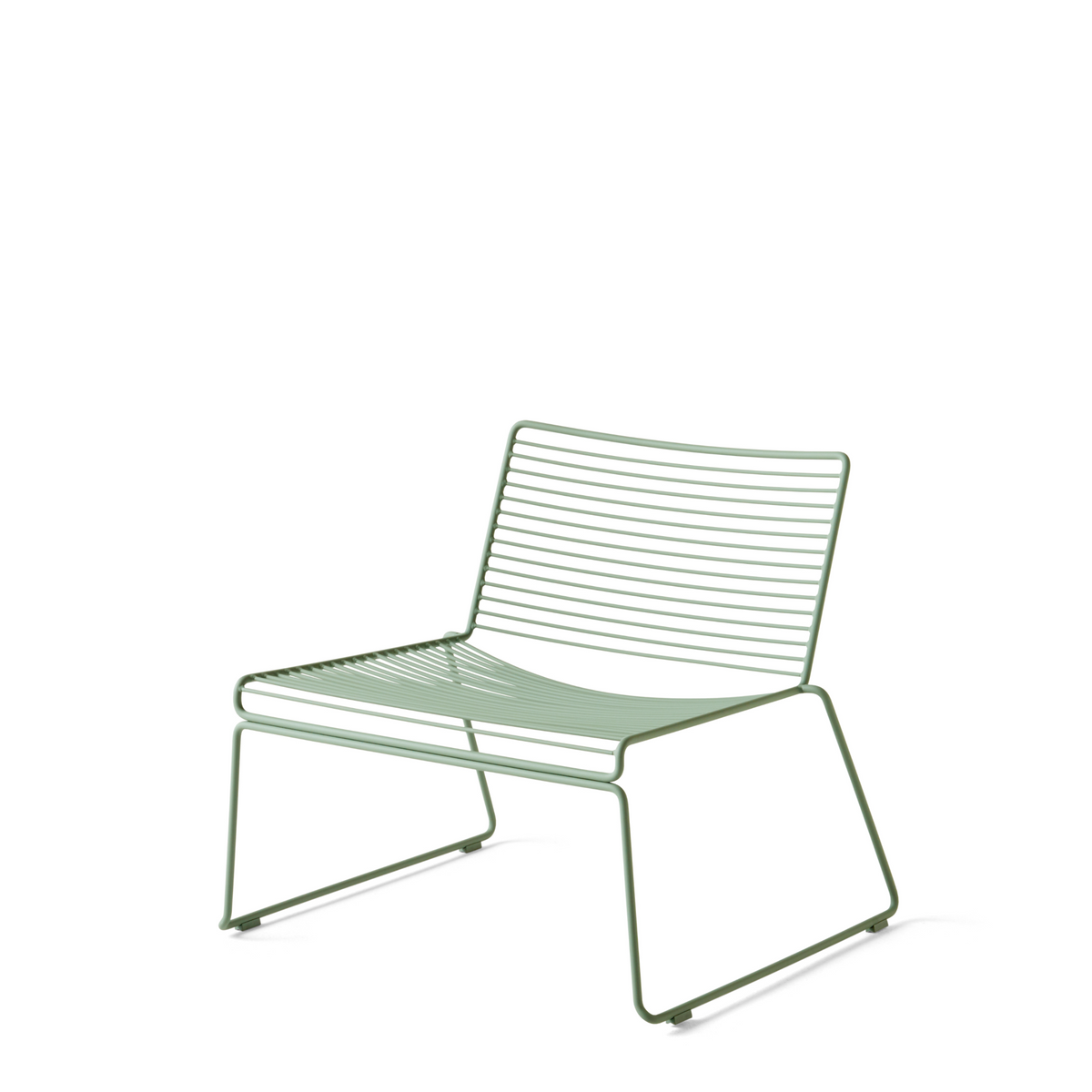 HAY Pair of Hee Lounge Chairs Fall Green Hee Office