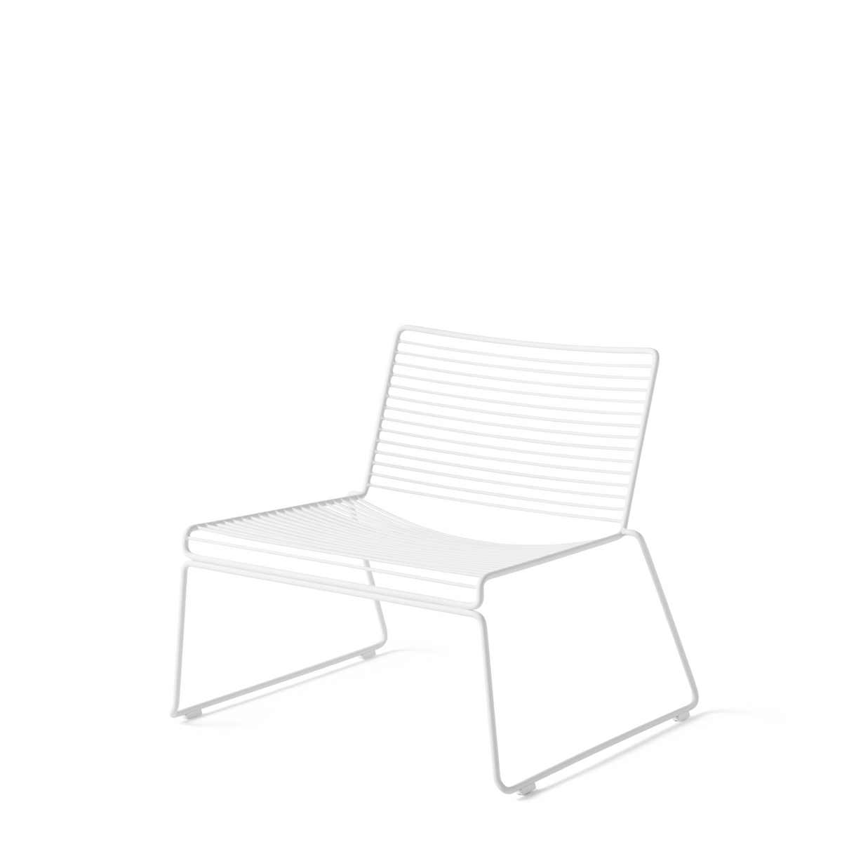 HAY Pair of Hee Lounge Chairs White Hee Office