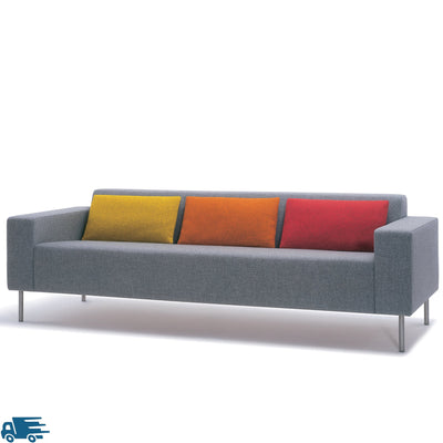 Hitch Mylius HM18 Origin Three Seat Sofa Brushed Stainless Steel Legs