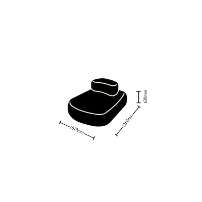 Dimensions for Hitch Mylius Office HM63a Pebble Seating